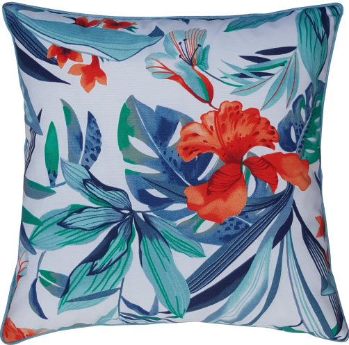 Housse coussin outdoor Lys Tropical / Lys Tropical colors, passepoil Oasis